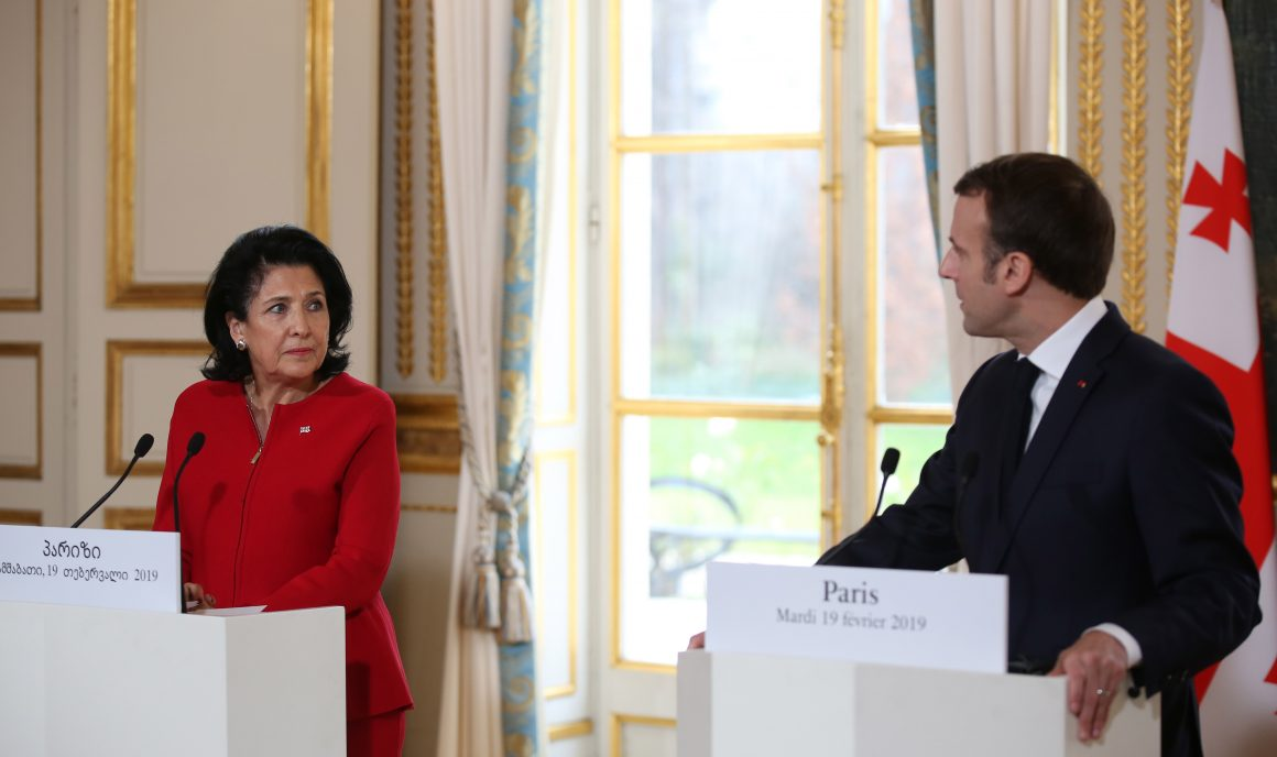 President Zourabichvili and President Macron Hold Joint Press Conference